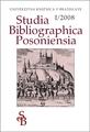 Zborník Studia Bibliographica Posoniensia