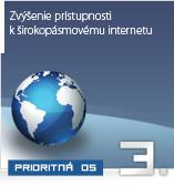 Zvýšenie prístupnosti k širokopásmovému internetu