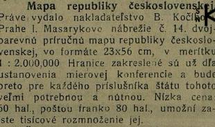 Hronské noviny zo 6. augusta 1919, str. 3